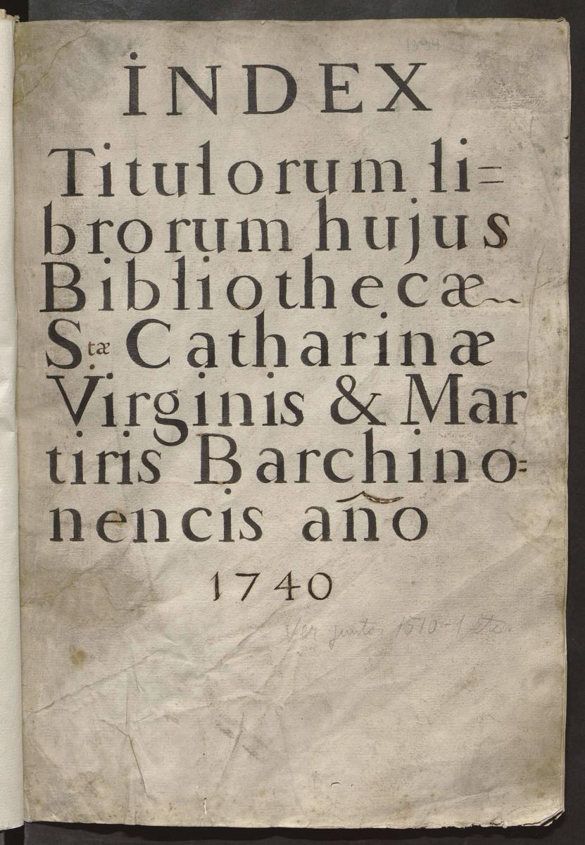 Catalegs manuscrits convents