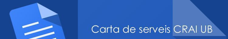 Carta de serveis del CRAI de la Universitat de Barcelona