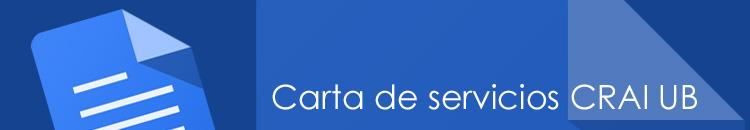 Carta de servicios del CRAI de la Universidad de Barcelona