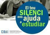 Campanya per fomentar el silenci als CRAI Biblioteques de la Universitat de Barcelona (edició 2019)
