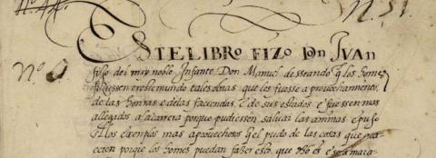 Manuscrit. Biblioteca Nacional de Madrid