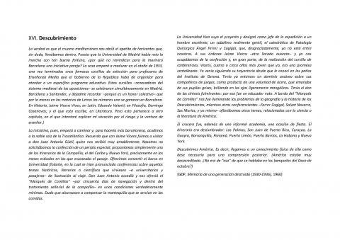 """16. Fragmento del libro de G. Díaz-Plaja """"Memoria de una generación  destruida"""", donde se evoca el compromiso de Güell con el Crucero de 1934 (Barcelona: Delos-Aymà, 1966, pp. 107-108)."""