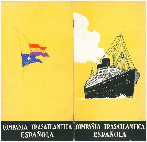 20. External image of the prospectus for the Cruise of 1934 edited by the shipping line.