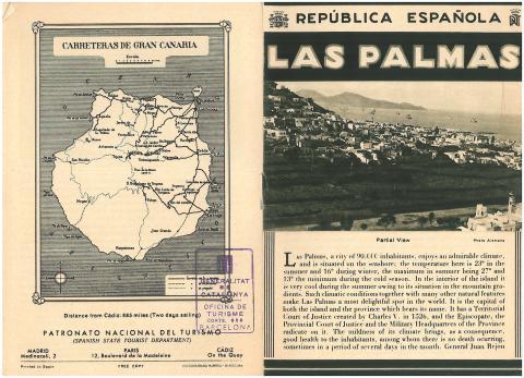 62. Prospecto de Las Palmas, editado en inglés, ofrecido a los viajeros desde la Conselleria de Turisme de la Generalitat.