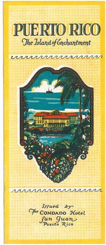 64. Prospecto del Hotel Condado de San Juan de Puerto Rico, un momento de descanso durante la visita a la isla.