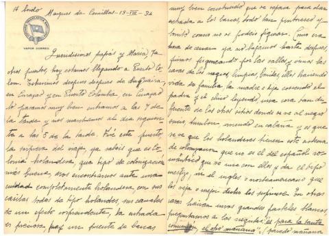 72a. C. Taboada narrates her impressions about the Curaçao culture.