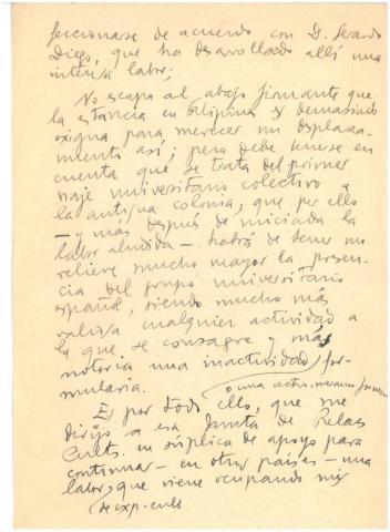 76. Borrador de una crónica de la llegada a la Habana, con la excelente acogida y los proyectos para hacer en la isla.