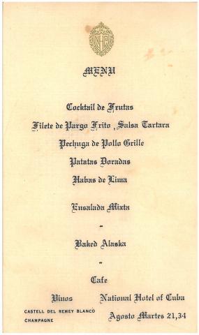 77a. Una de les numerosas invitaciones realizadas a los universitarios durante su estancia en la Habana.