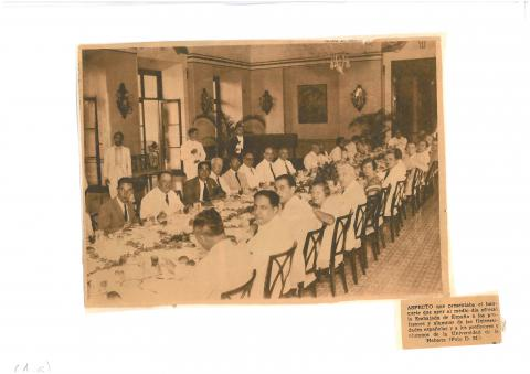 78. Aspect of the banquet in the Hotel Nacional, described in the Cuban press.