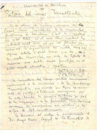87. A la vuelta, G. Díaz-Plaja y C. Taboada preparan, a dos manos y en dos lenguas, una crónica del viaje.