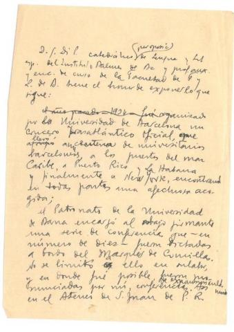 90. Report about the Cruise in America and proposal for a new University Cruise, around the Far East, for the summer of 1935.