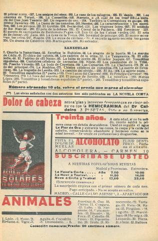 La Novela Corta, 317. Gener 1922