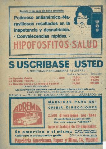 La Novela Corta, 275. Març 1921