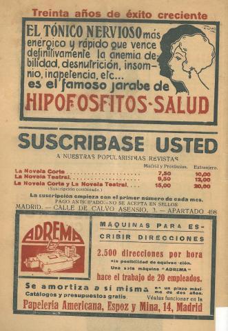 La Novela Corta, 265. Gener 1921