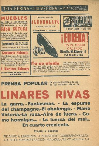 La Novela Corta, 256. Novembre 1920