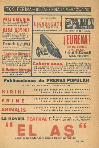 La Novela Corta, 254. Octubre 1920