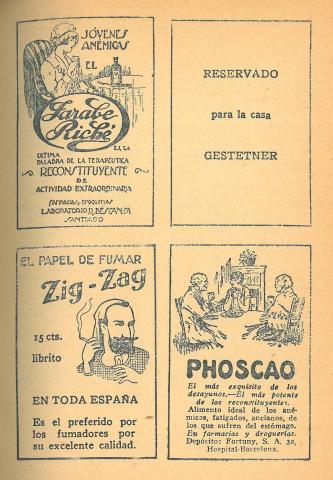 Los Novelistas, 15. Juny 1928