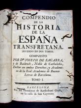 Segarra i de Baldric, Josep de, 1724-1784. Compendio de la historia
