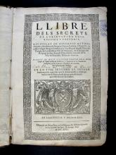 Agustí, Miquel, 1560-1630. Llibre dels secrets