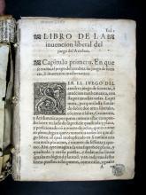 López de Segura, Ruy. Libro de la invencion liberal y arte del juego del axedrez,