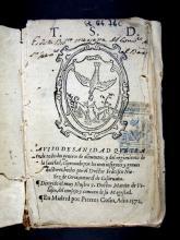 Núñez de Coria, Francisco. Aviso de sanidad : que trata de todos los generos de alimentos y del regimiento de la sanidad, comprouado por los mas insignies y graues doctores. En Madrid : por Pierres Cosin, 1572.