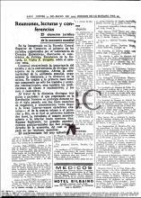 ABC, 3 de maig 1934. Primer curset del catedràtic Víctor Brugada
