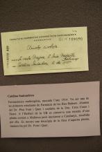 Fitxa de planta medicinal manuscrita pel Dr. Pius Font i Quer