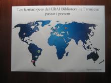 Mapa de les farmacopees que formen part del fons del CRAI Biblioteca de Farmàcia