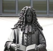 Ferdinand, Reinhard. Leibniz-Denkmal in der Universität seiner Geburtsstadt Leipzig