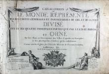 Fer, Nicolas de (1646-1720). L'Atlas curieux, ou le monde réprésenté dans des cartes génerales...