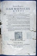 Kepler, Johannes, 1571-1630. Ioannis Keppleri Harmonices mundi libri V... :