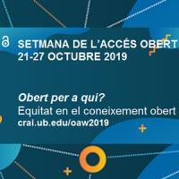 Setmana de l'Accés Obert 2019 al CRAI de la UB