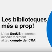 El nou Cercabib del CRAI a l'App SocUB