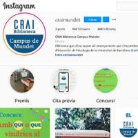 Nou canal d'Instagram al CRAI: @craimundet