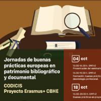 Participació del CRAI a les Jornadas de buenas prácticas europeas en el patrimonio bibliográfico y documental