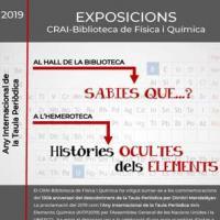 Històries ocultes dels elements. Exposició al CRAI Biblioteca de Física i Química