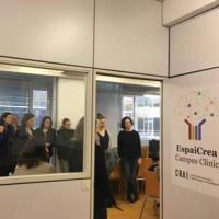 El CRAI Biblioteca del Campus Clínic rep la visita del grup temàtic Digital Education de la LERU