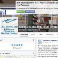 Novetat a les xarxes CRAI UB: Facebook de la Biblioteca Dipositària de les Nacions Unides