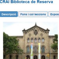 CRAI Biblioteca de Reserva en projectes externs i catàlegs col·lectius