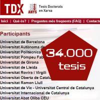Una tesi de la Universitat de Barcelona, la número 34000 del repositori TDX