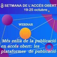 Webinar en el marc de la Setmana de l'Accés Obert 2020
