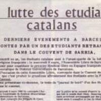 Commemoració del 50è aniversari de l'assemblea constituent del Sindicat Democràtic d'Estudiants de la Universitat de Barcelona