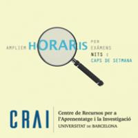 Horaris dels CRAI Biblioteques en el període d'examens de maig i juny de 2017