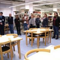 Bateig de la sala de treball Rosalia Guilleumas al CRAI Biblioteca de Biblioteconomia i Documentació