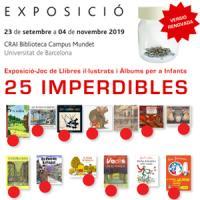25 Imperdibles: Exposició/joc de Llibres iI·lustrats i Àlbums per a Infants al CRAI Biblioteca del Campus Mundet