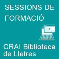 Sessions d'introducció als serveis del CRAI Biblioteca de Lletres