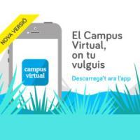 Disponible una nova versió de l'aplicació per a dispositius mòbils del Campus Virtual