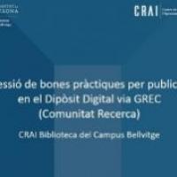 Sessió de bones pràctiques per publicar recerca en el Dipòsit Digital al CRAI Biblioteca del Campus Bellvitge