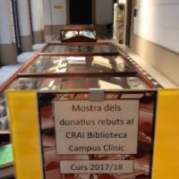 Visiteu la mostra de donatius rebuts al CRAI Biblioteca del Campus Clínic