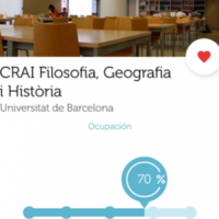El CRAI Biblioteca de Filosofia Geografia i Història a l'aplicació Affluences